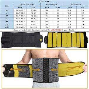 Image 5 - Ningmi Afslanken Ondergoed Voor Mannen Taille Trainer Body Shaper Shapewear Gridle Neopreen Sauna Mannelijke Modellering Riem Gewichtsverlies Riem