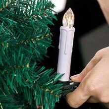 LED Candle White Flickering-Lamp Celebration-Decoration Night-Light Simulation-Flame