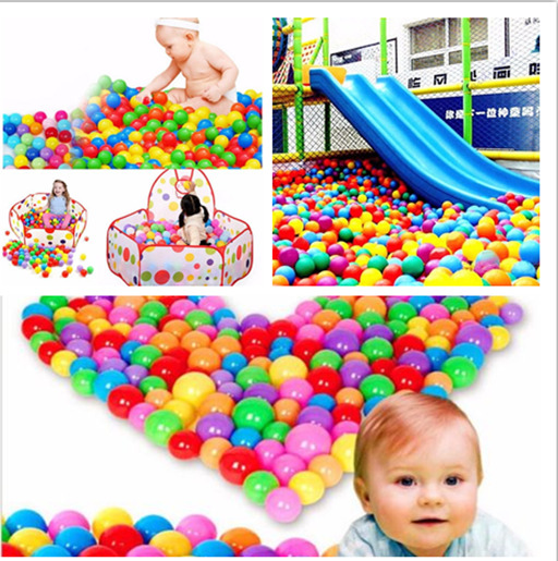 Hot Babys Kids Plastic Soft Colorful Play Balls Pit Ocean Swim Pool Toy 20/50/100pcs Colorful Fun Soft Plastic Ocean Ball Swim