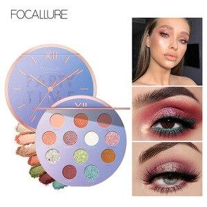 Image 5 - FOCALLURE Neueste Lidschatten palette Myserious Zeit 12 Farben Shades Von Palette Glitter Make Up Lidschatten