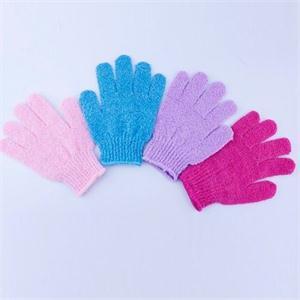 Горячие женщины скрабер тело массаж губка перчатки практичный ванна перчатки тело мытье душ гель отшелушивающий аксессуары случайный цвет