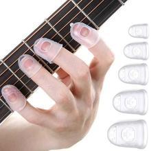 5 шт. Палец чехол противоскользящее покрытие руки пальто облегчение игра боль перчатки для гавайской гитары электрический акустический гитара струнный музыкальный инструмент
