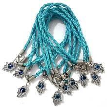 Партиями 100 шт браслеты hamsa с веревкой светильник голубого