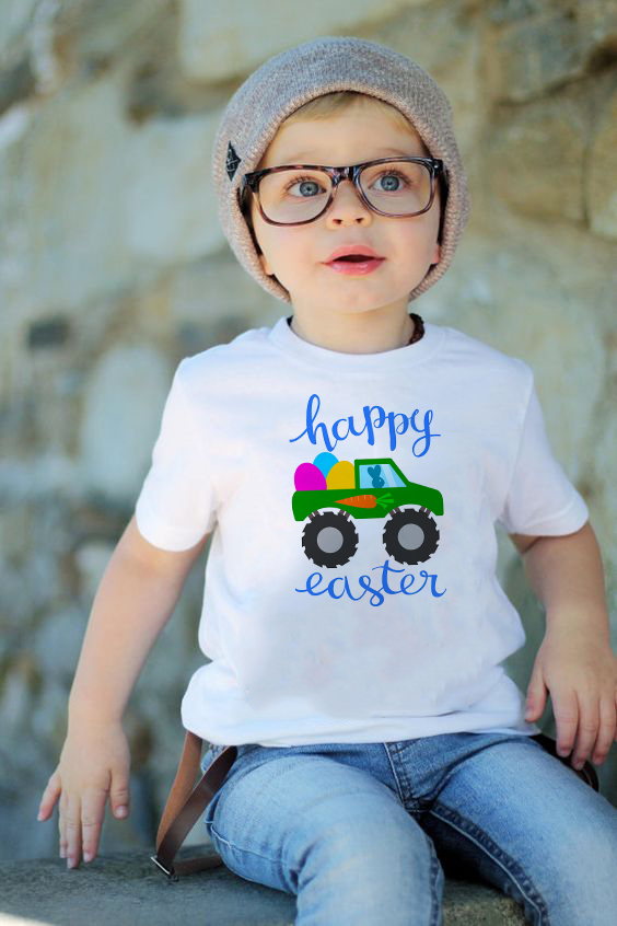 Easter Bunny in Sunglasses Happy Easter shirt Kids Easter t-shirt