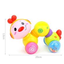 Crawling bug toy Creeping Worm Lovely cute music worm press function with music and light learning children toys ABS 6 month kid cute magical jellyfish pet abs children learning toy christmas gift