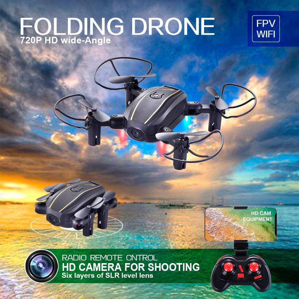 Fixed height four-axis mini folding fixed UAV WIFI real-time aerial remote control aircraft model 668-A7 drone x pro image