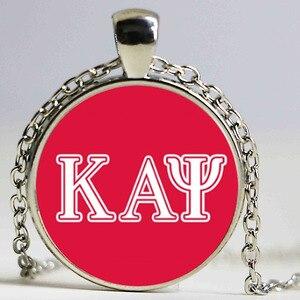 Модное ожерелье с надписью Omegaa Psi Phi, греческие братья, длинная цепочка со стразами