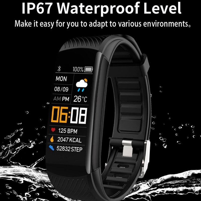 Sport Fitness Armband Wasserdichte Fitness Tracker Blutdruck Herz Rate Monitor Smart Band Uhr Für Android IOS Telefon