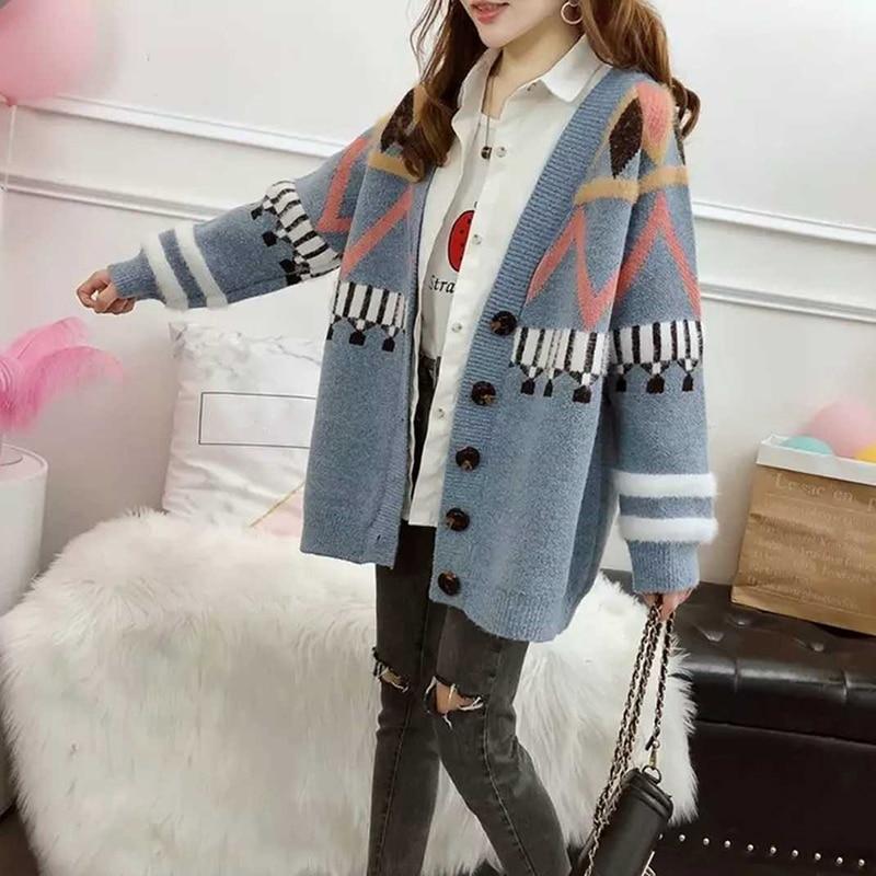 Mens Wool Blend Sweaters Cardigan Coats Knitwear Blazer Jackets Korean Outerwear