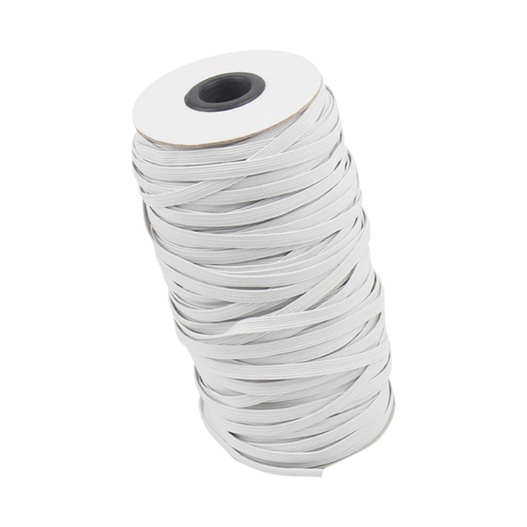 10m/5mm Diy Geflochtene Elastische Seil Gummi Handgemachte Hohe Elastizität Stricken Elastische Band Für Nähen Handwerk, maske, Bettdecke, Manschette