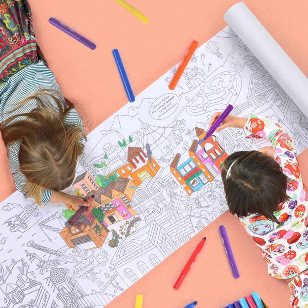 10m Besar Mewarnai Poster Super Pelukis Kertas Gambar Raksasa Meja Kertas Papan Doodle Mainan Anak Laki Laki Dan Perempuan Hadiah Ulang Tahun Mainan Menggambar Mainan Aliexpress