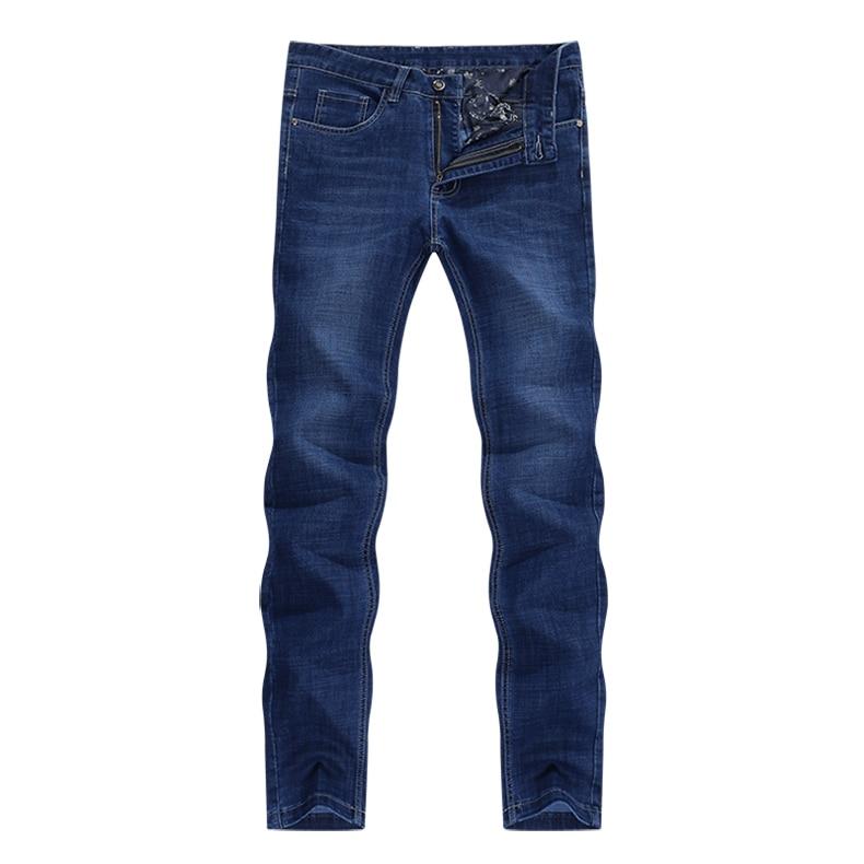 KSTUN Blue Jeans Men 2019 Autumn Straight Elastic Jeans Fashion Business Classic Style Work Trousers Pants Men Cotton Jean Homme 11