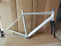 last 49 52cm 1300g road bike frame road cycling bicycle frameset clearance frame with carbon fork 7005 aluminum frame bike parts