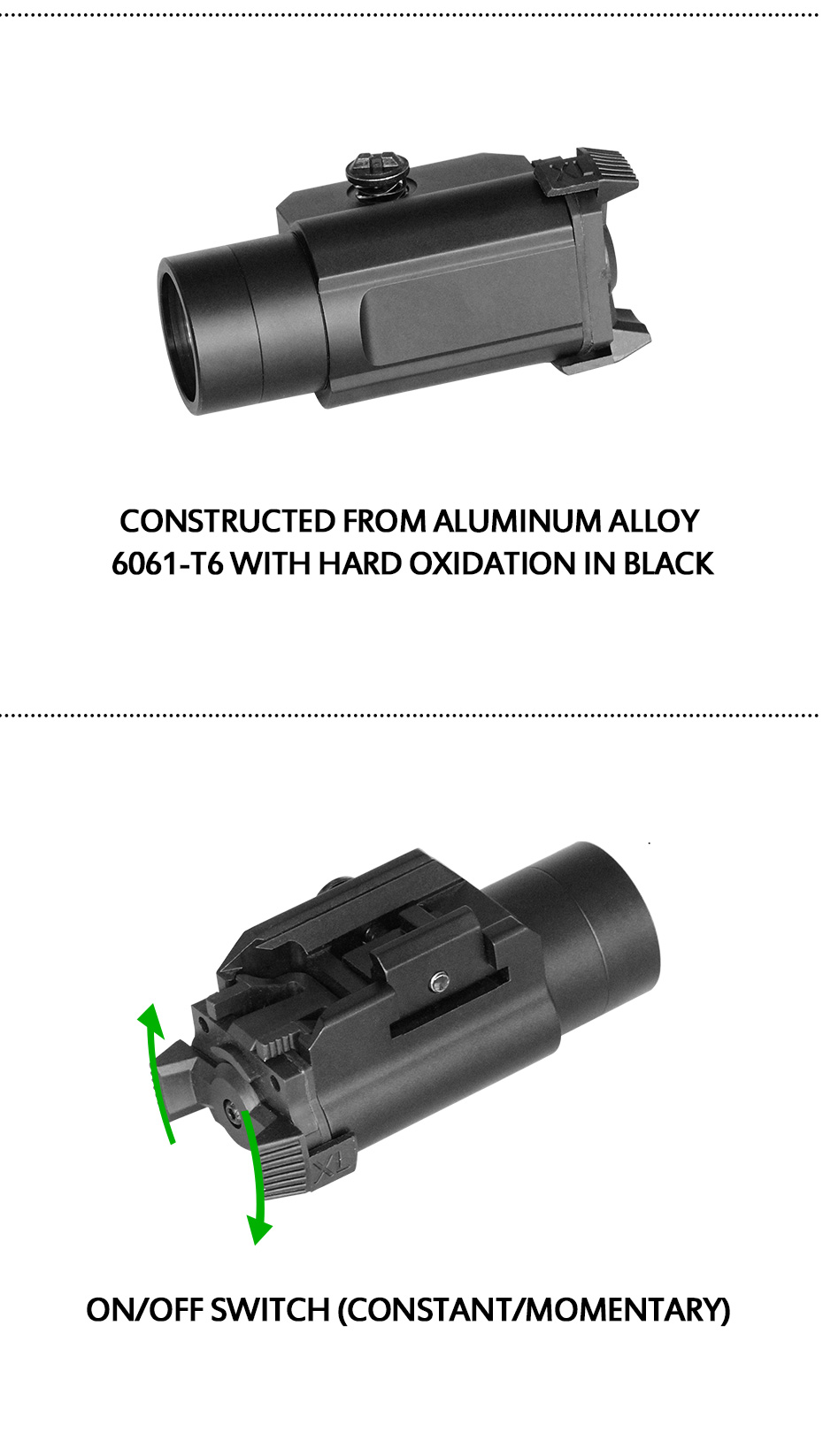 Laserspeed pistola de alumínio 450lumens capacete tático