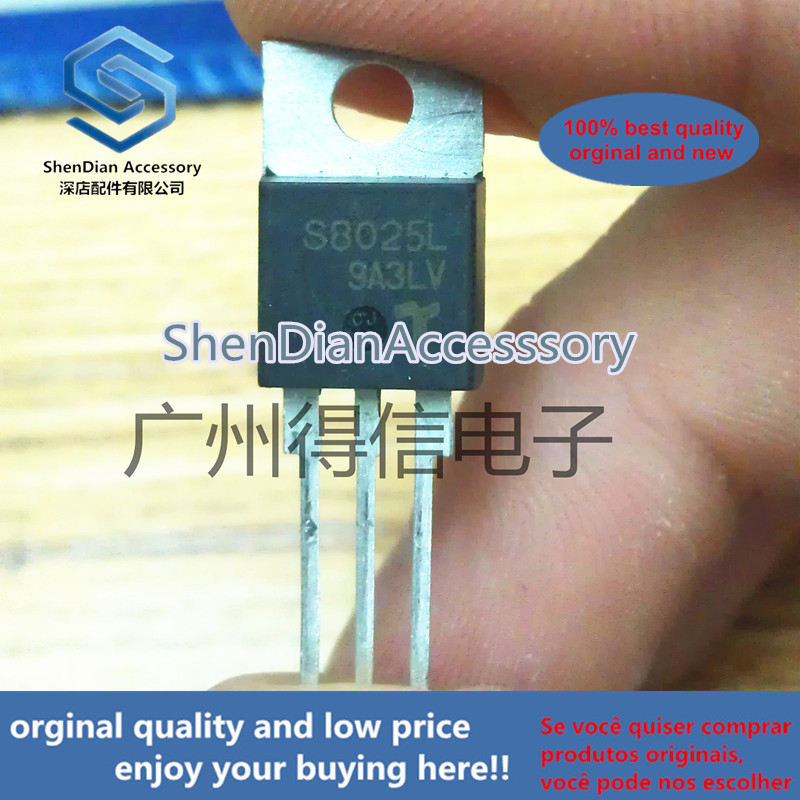 5pcs 100% Orginal New S8025L S8025 Unidirectional Thyristor TO-220 Real Photo