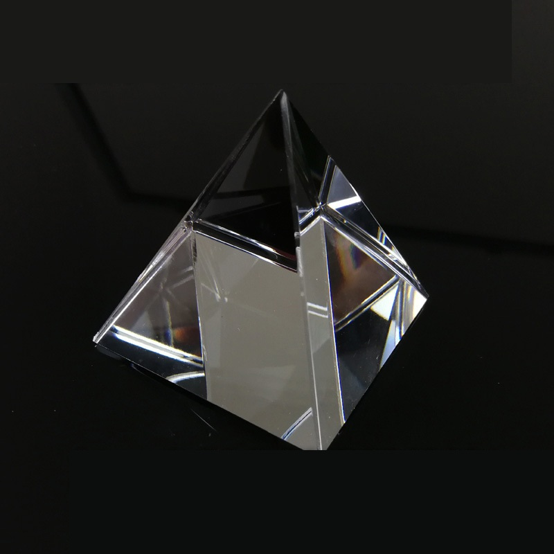 Prism Optical Glass Crystal Pyramid 40mm Height Rectangular Pyramid Polyhedral Popularization Of Science Studying Home Students