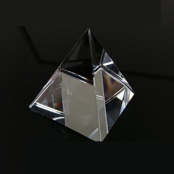 Pryzmat szkło optyczne kryształowa piramida 40mm wysokość prostokątna piramida wielościenna popularyzacja nauki studiującej studentów domu tanie i dobre opinie HUILEY Nieregularny Kształt - +1 60 40 Prism 40 mm height LJ-10