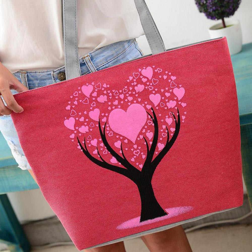 Vrouwen Mode Leuke Printing Vrouwen Canvas Tassen Schoudertas Casual Handtas boodschappentassen Dames Bakken bolso mujer #45
