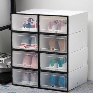 Image 4 - 6Pc Stackableสไตล์เรียบง่ายล้างรองเท้าพลาสติกกล่องจัดเก็บกล่องOrganizerลิ้นชัก