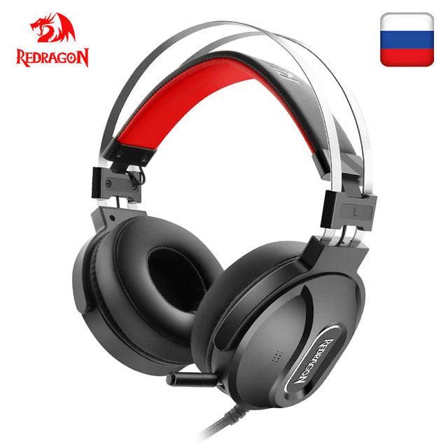 Redragon LADON H990 GAMING HEADSET 7.1 USB Surround PRO Wired Computer Headsets Earphones With Microphone for MAC PC Laptop PS4