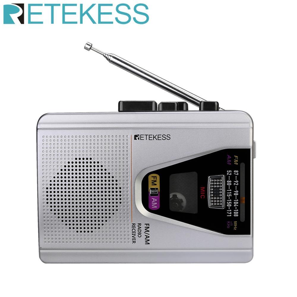 Radio Portable Retekess TR620 FM/AM avec enregistreur vocal à lecture de Cassette et commutateur de Mode de boucle de lecture de bande