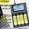 Chargeur de batterie liitokala M4 18650 usb en 26650 21700 AAA 18350 14500 test batterie au lithium portable charge nitecore