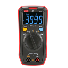 UNI-T UT123 Mini Digital Multimeter Auto Range Data hold AC DC Volt Meter Ohm Temperatue NCV/Continuity Tester EBTN Display