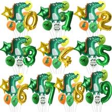 21Inch Cartoon Dinosaur Theme Balloon Tropical Jungle Party Childrens Birthday Toy Set Jurassic World Decoration