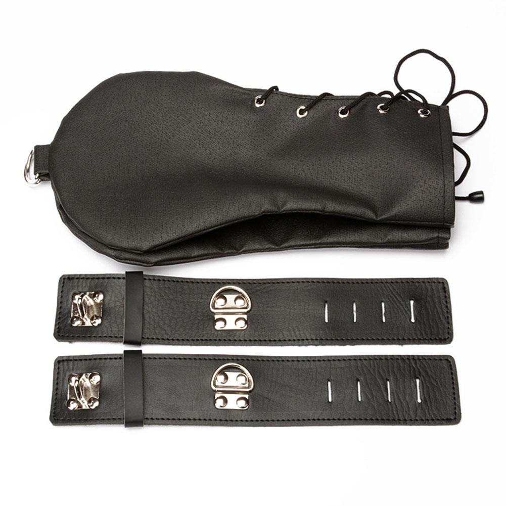 Sexy Slave Dog Hand Gloves Bondage Restraints Leather Lockable Mittens Erotic Adults Toys Products for Women