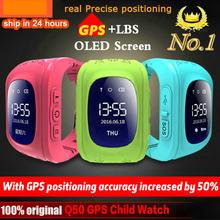 Анти-потерянный Q50 Детские умные часы OLED ребенок GPS трекер SOS монитор позиционирование телефон GPS детские часы для IOS Android PK Q12 S9 часы