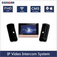 1 IP Video Intercom indoor master-station + 2 IP Video Intercom Wasserdicht Vandal-Beständig Tür Glocke Station Intercom kit