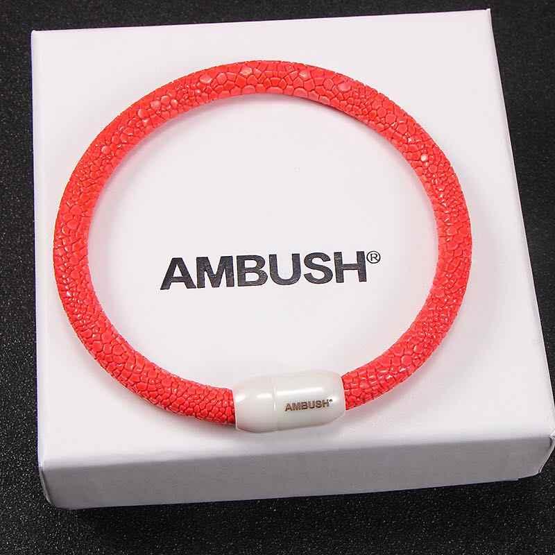 Mode Ins 19ss Ambush Armband Bnagle Rode Keramische Lederen Armbanden Hip Hop Design Statement Sieraden Party Christmas Gifts
