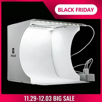 Mini pliant Lightbox photographie Photo Studio Softbox 2 panneau lumière LED boîte souple Photo fond Kit boîte lumineuse pour appareil Photo reflex numérique