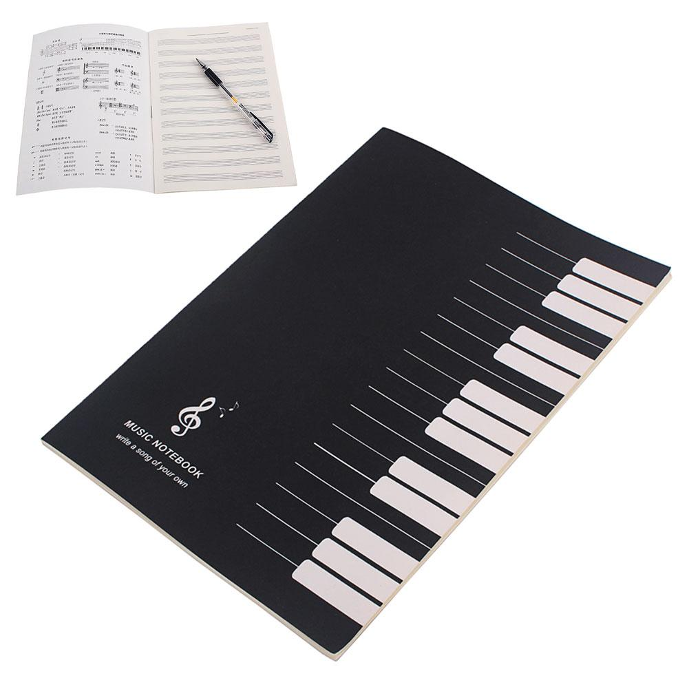 32 Pages Musical Notation Staff Notebook Music Manuscript Writing Paper Guitar Parts Accessories
