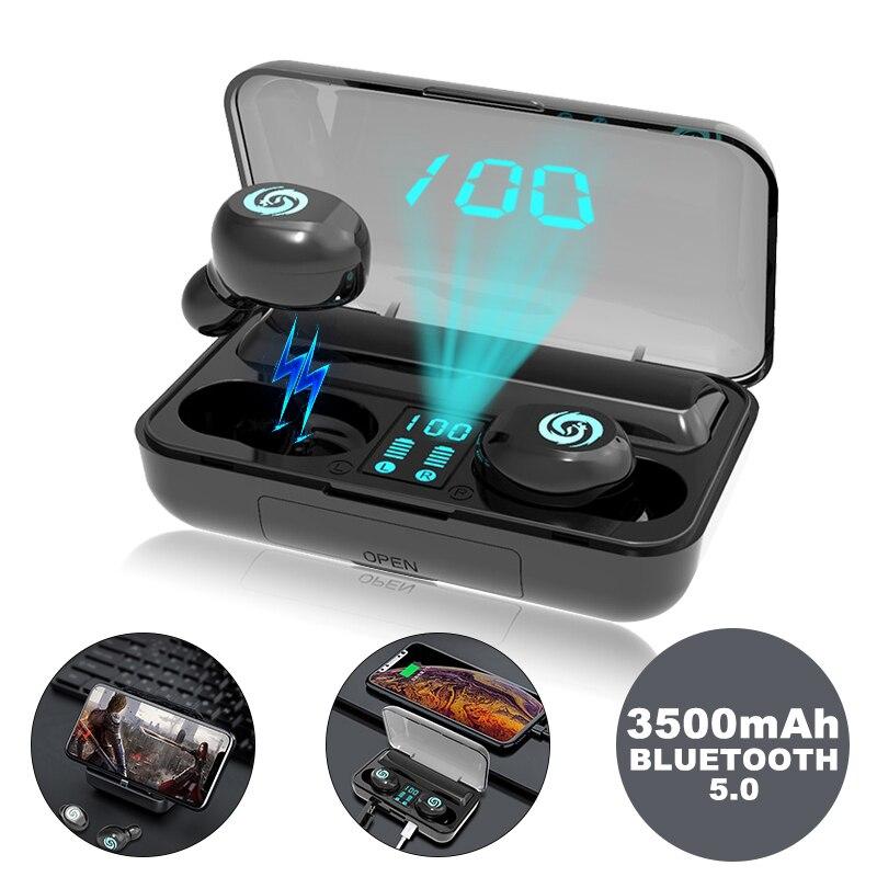Écouteur bluetooth sans fil TWS antibruit avec affichage numérique LED