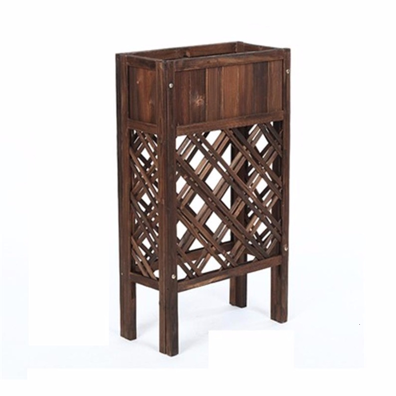 Indoor For Soporte Plantas Interior Varanda Wood Plantenstandaard Terraza Plant Rack Balcony Shelf Dekoration Flower Stand