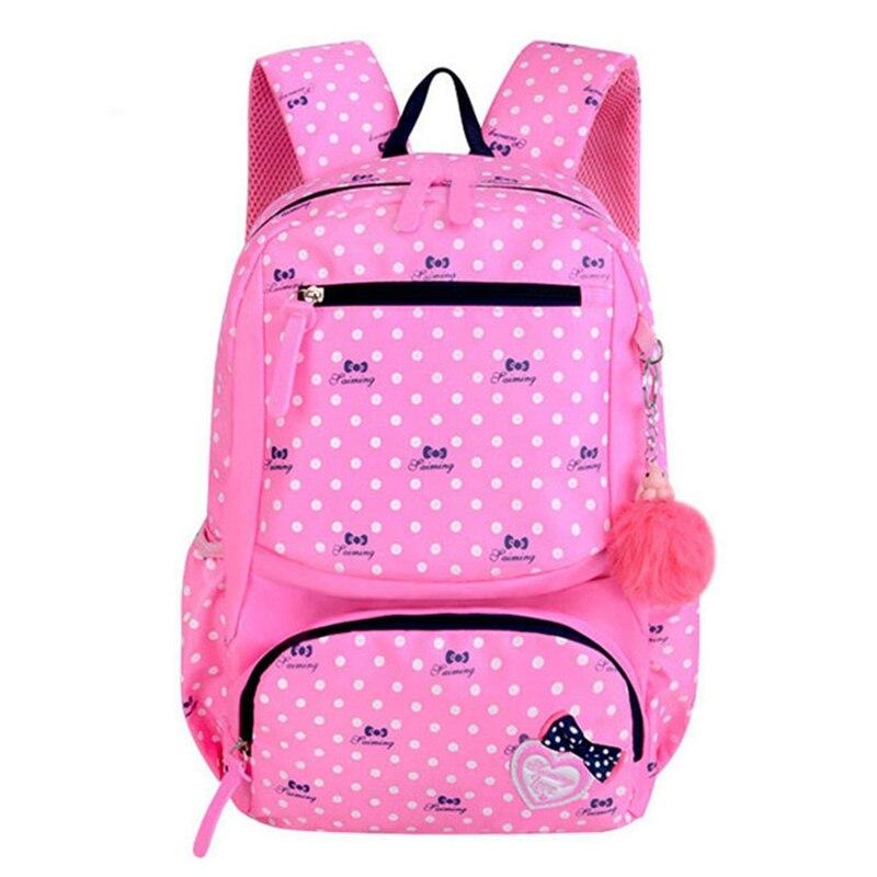 JHD-Backpack Schoolbag Kids Lovely Backpacks For Children Girls School Student Printing School Bags 3Pcs/Set