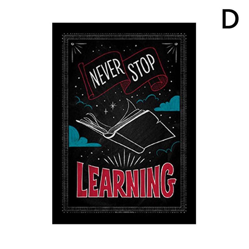 Вдохновляющий постер на английском языке, картина, мотивационный плакат, школьная офисная классная комната, для стен, картины для школьников, школьниц - Цвет: D