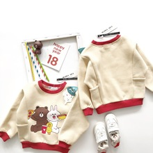 Tonytaobaby Boys and Girls #8217 new Cartoon Cotton Children #8217 s Clothes In Autumn and Winter Toddler Sweatshirt Baby Sweatshirt cheap MILAMILAKIDS Without Fashion Fits true to size take your normal size Unisex Hoodies Full Regular