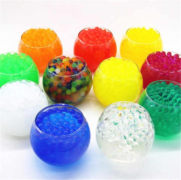 500 ชิ้น/ถุง Water Plant Flower Jelly Crystal ดินโคลนน้ำไข่มุกเจลลูกปัดตกแต่งแจกันคริสตัลเด็กของเล่น
