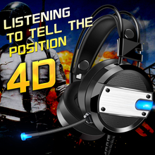цена на Gaming Headset for PS4 PC Xbox one LED Lights Wired Stereo Surround Sound Noise Cancelling Gamer Headphones With Mic auriculares