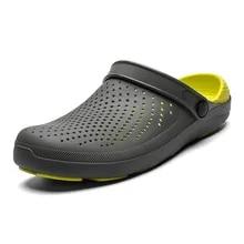 Men Summer Sandals Shoes Flip-Flops Beach-Slippers Breathable Hollow Fashion Men's 47