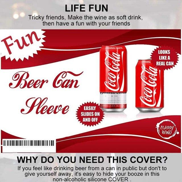 5 paquetes de funda oculta para lata de cerveza, funda para botella, cubierta para taza de Cola, soporte para botella, bolsa térmica, bolsa de viaje para Camping senderismo