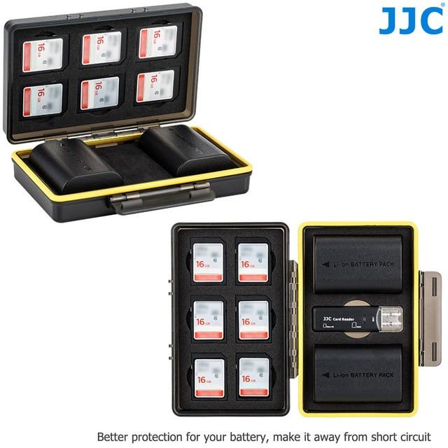 JJC מצלמה סוללה תיבת זיכרון כרטיס מקרה מחזיק אחסון עבור SD SDHC SDXC MSD מיקרו SD MicroSD XQD כרטיסי CF AA סוללה עבור DSLR
