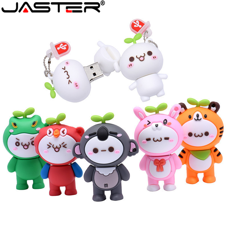 JASTER Lovely USB Flash Drive Pen Drive 4GB 8GB 16GB Flash Drives 32GB 64GB Pendrive USB 2.0 Flash Memory Stick