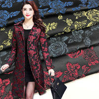 High end vintage peony woven gold wire jacquard brocade fabric dress coat windbreaker fabric factory direct 9 colors P