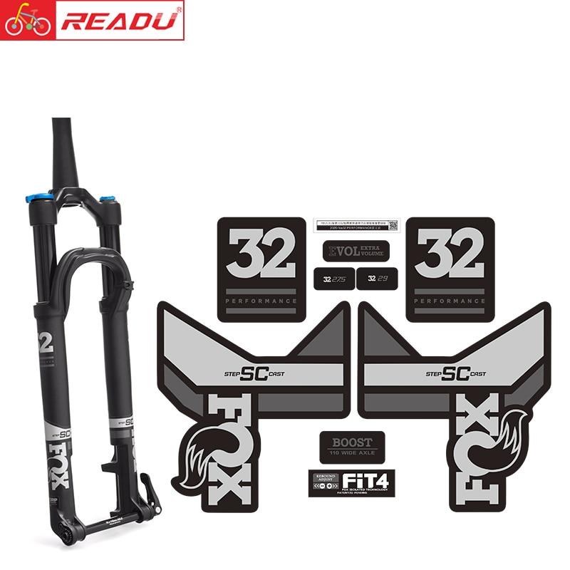 2020-fox32 PRESTAZIONI forcella anteriore della decalcomania accessori per biciclette mtb forcella della bici adesivi fox float 32 della bicicletta adesivi