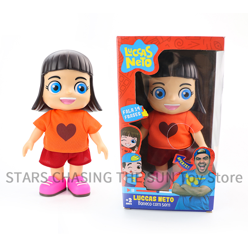 Luccas Neto Giovanna 25cm Hot Sale Sound Talking Action Figure Doll PVC Toys With Box Collection Model Boy Kid Birthday Gifts