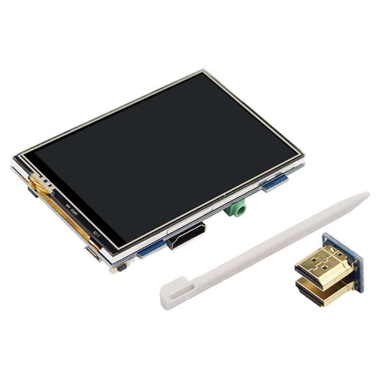 HDMI Interface 3.5 Inch 480*320 Adjustable Touch Display Screen For Raspberry Pi 3