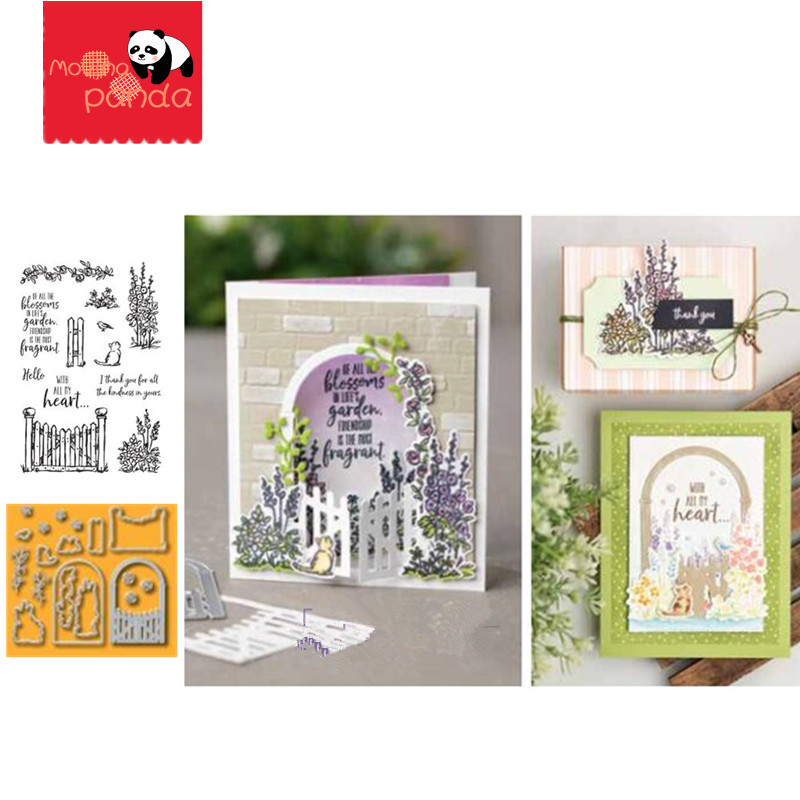 MP058 GARDEN Metal Cutting Dies And Stamps Embossing Die Stencil For DIY Scrapbooking Album Card Decorative